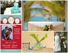 turquoise and red wedding | Turquoise and Red color palette