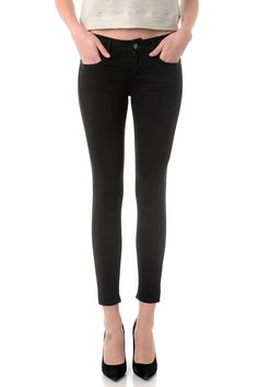 Cropped skinny pant LANA 7/8 Black by Cimarron jeans - Color denim pant - summer style #cimarronparis