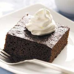 Old-Fashioned Molasses Cake Recipe from Taste of Home -- shared by Deanne Bagley of Bath, New York