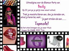 Speciale Glamour in STYLE uitnodiging
