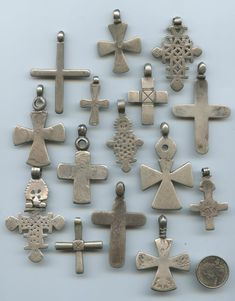 Lost Cities Beads, old coptic crosses, some made out of coins.