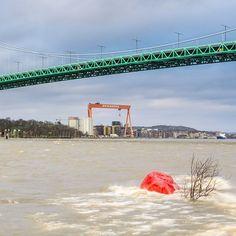 Röda Sten Gothenburg Sweden. 10 December 2011. #naturemoments #swedenmoments #sweden #nature #mikaelsvenssonphotography #rödasten #älvsborgsbron #eriksbergskranen #göteborg #gothenburg #goteborgcom #flooding #höststorm #thisisgbg #älskagbg #bestofgothenburg #igersgothenburg