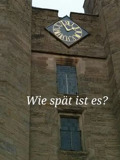 What's the time? Wie spät ist es?