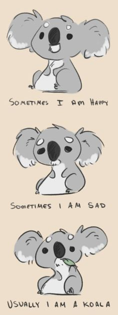 Koala - If you REALLY know the real me you know that this pretty much sums it up. @Kassandra Sparkmon