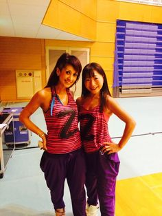 "9-23-14 ZES Japan Instructors Katia Nishimura and Hiromi Wadano enjoy a ""selfie"" at the Hiroshima Caliente! Debutants Zumba® Jam at the Hatsukaichi City Sports Center, Hiroshima, Japan. The ladies are looking muy caliente!"