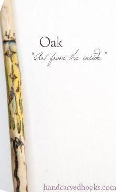 Art From The Inside crochet hook, oak G/7