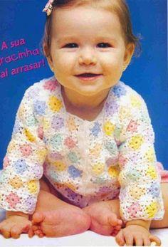 Patrón #664: Chaleco de Bebé tejido a Crochet #ctejidas http://blgs.co/dWnESn