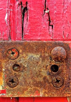 Anna Storm Photography - Beach Hut Door Red Rust Texture Colour