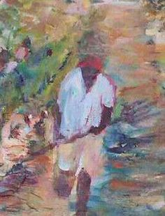 """#Impressionist """"The Harvest"""", original, oil on canvas.  16x20.   Impressionist artist for 19 years. New Orleans native. Atlanta resident. Collected locally and nationally. find me on Twitter and Facebook #ART"""