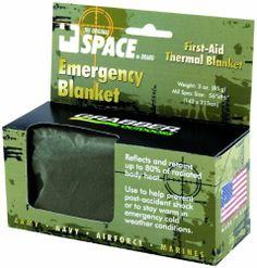 Grabber Outdoors The Original Space Brand Emergency Tactical-Survival Blanket- Olive-Drab/Silver (Pack of 3) by Grabber Outdoor