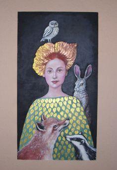 """""""Autumn""""  Original Acryl auf Holz von Marion Ruhrberg / auf meine ART... auf DaWanda.com"""