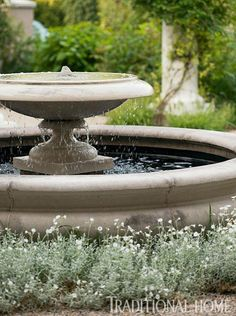 French-Inspired Garden in the Pacific Northwest French-Inspired Garden in the Pacific Northwest,Brunnen/Wasserspiele French-Inspired Garden in the Pacific Northwest Landscaping Tips, Garden Landscaping, Diy Garden Fountains, Fountain Garden, Water Fountains, Fountain Ideas, Outdoor Fountains, French Courtyard, Cottage Garden Plants