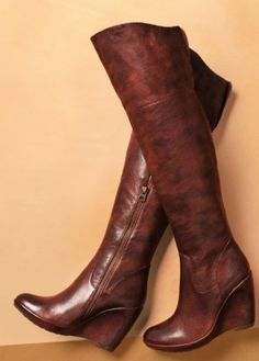 wedged boots....WANT these for fall!!!.