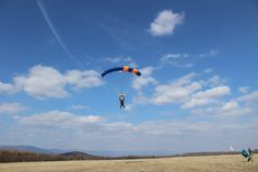 Skydiving - soft landing on the end of your tandem jump Tandem Jump, Skydiving, Landing