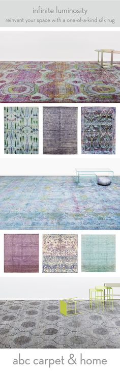 Exclusive promotion - Save up to 50% off silk rugs, including overdyed rugs, ikat designs, and abstract motifs. Discover rugs from our exclusive collections of aquasilk, color reform, aura, and more at ABC Carpet & Home, the iconic NYC retail destination for innovative design.