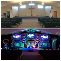 Living Waters Christian Fellowship Church another great week, sharing the Gospel with the families around Ithaca, NY here's a before/after shot of our invasion at Living Water Christian Fellowship. #AlienChurchMakeover #KidzturnChurchMakeover