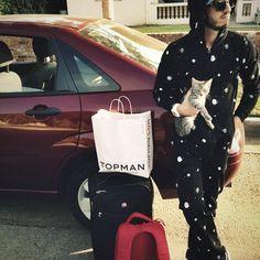 thAT BAG SAYS TOP MAN IS THAT A DUN– I MEAN PUN ????