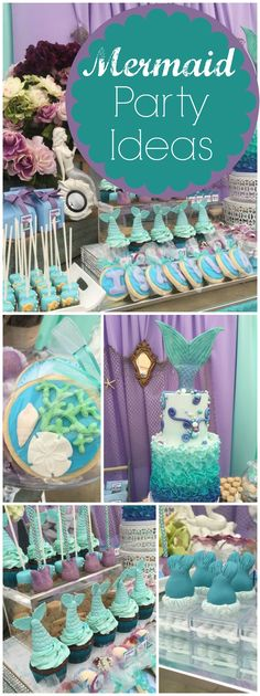 You have to see this gorgeous mermaid party!  See more party ideas at CatchMyParty.com!
