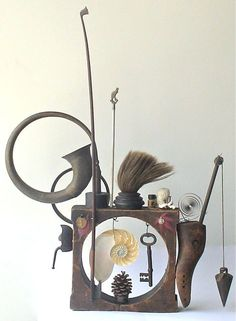 assemblage art by mike bennion - 'a three pipe walk'