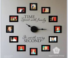 this be so cool to take A picture of your child each month up to a year and make it into this clock!!!