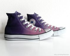 Violet & mauve ombre dip dye Converse upcycled All by Femchan