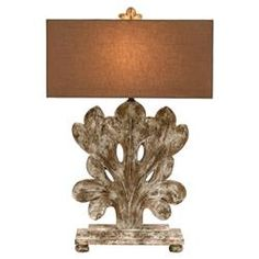 Annaliese French Country Antique Fleur Base Table Lamp   Kathy Kuo Home