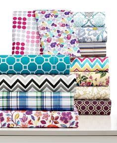 Printed Microfiber Sheet Sets - Sheets - Bed & Bath - Macy's