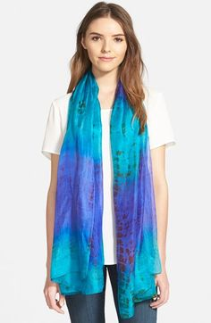 La Fiorentina Tie Dye Silk Scarf available at #Nordstrom