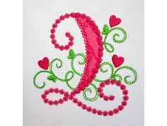 Cute Number 2 for Lil Princess Hearts Applique by EmbroideryLand