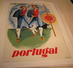 Vintage Travel Poster - Ribatejo, Portugal