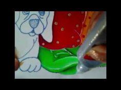 Pintura en tela zapato y perro del payaso # 5 con cony - YouTube