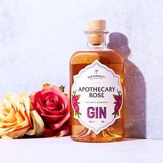 Simply pair The Old Curiosity Secret Garden Gin - Apothecary Rose for a fantastically floral take on a classic Use Of Capital Letters, Flavoured Gin, Gin Gifts, Gin Lovers, Rose Design, Apothecary, Packaging Design, You Got This, Perfume Bottles