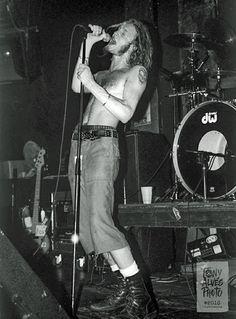 Layne Staley; Feb 15,1991 at the I-Beam in San Francisco, CA- photo credit to Tony Alves
