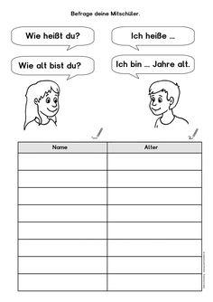 """kostenloses Arbeitsblatt für DaF/DaZ (Deutsch als Fremdsprache/Zweitsprache) zum Thema """"sich vorstellen"""", z.B. für das Deutschlernen mit Flüchtlingen"""