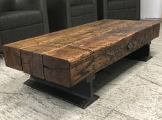 Flatcar Coffee TableYou can find industrial table and more on our website. Rustic Coffee Tables, Cool Coffee Tables, Decorating Coffee Tables, Cofee Tables, Rustic Furniture, Diy Furniture, Furniture Design, Industrial Design Furniture, Outdoor Furniture