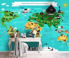 (1) 3D Cartoon World Map Green Background Wall Mural Wallpaper 80 – Jessartdecoration Playroom Wallpaper, Kids Wallpaper, Peel And Stick Wallpaper, Wall Wallpaper, Wallpaper Ideas, Cartoon Kids, 3d Cartoon, Kids World Map, World Map Wallpaper