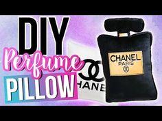DIY CHANEL Perfume Pillow | NO SEW! ♥ ROOM DECOR - YouTube