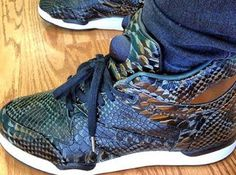 "45fe067500d Here is a look via swizz beatz at a pair of Reebok Pump Aerobic Lite  ""Python"" Sneakers"