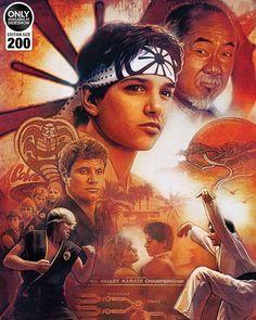 The Karate Kid 1984, Karate Kid Movie, Karate Kid Cobra Kai, Cobra Kai Wallpaper, Madara Wallpaper, Cobra Kai Dojo, Ralph Macchio, Kids Poster, Columbia Pictures