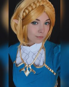 Cosplay By xakane.cosplayx Legend Of Zelda Characters, Disney Characters, Fictional Characters, Zelda Breath, Breath Of The Wild, Dreadlocks, Cosplay, Costumes, Disney Princess