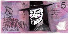Over those three years he's given Queen Elizabeth 71 new faces. V For Vendetta, Play Money, Dollar, New Face, Queen Elizabeth, Fictional Characters, Note, Wall, Walls