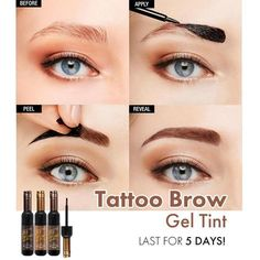 Eyebrow Tint Gel Dye Eyebrow Tint Gel Dye Kit Make your eyebrows fabulous with eyebrow gel tint kit! Beautiful Eyebrows Without The Hassle Of Continuous Maintenance! It& a much easier, and less costly alternative to microblading or eyebrow tattoo! Eyebrow Tinting, Eyebrow Makeup, Eyebrow Brush, Peel Off Eyebrow Tint, Eyebrow Sculpting, Make Up Tutorial Contouring, Perfect Eyebrows, Shape Eyebrows, Eyebrow Shapes
