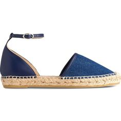 0995bf22e80 LK BENNETT Dorian denim espadrilles (£50) ❤ liked on Polyvore featuring  shoes, sandals, round toe shoes, espadrille sandals, denim sandals, braided  sandals ...