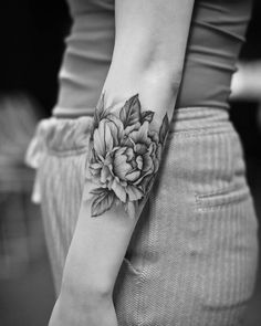 Peony flowers by Dragon Art