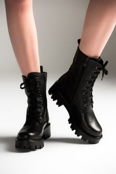 CHAPTER 1 – the combat boots you wore for the robbery Black Ankle Boots, Black Shoes, Heeled Boots, Crazy Shoes, Me Too Shoes, Boot Over The Knee, Moda Rock, Grunge Boots, Doc Martens Boots