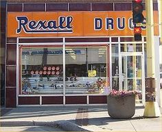 Rexall Drug , Had one in our small town. Nobles.  Smelled so unique.  Medicine, perfume, make up, records ,cards and candy!  Ah....the days...