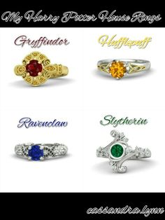 My Harry Potter House Rings.