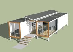 Container house (skpSketchUp) #ContainerHomeDesigns