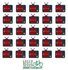 Netflix Binge   Netflix and Chill Planner Stickers