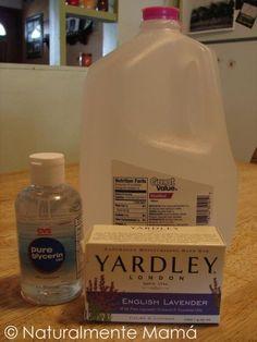 De una simple barra de jabón puedes hacer un galón de jabón líquido para las manos y yo te explico cómo.